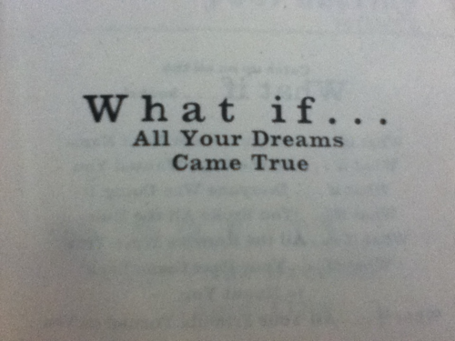 What if all your dreams came true